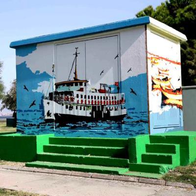 Elektrik Trafoları İçin Duvar Resmi Boyama