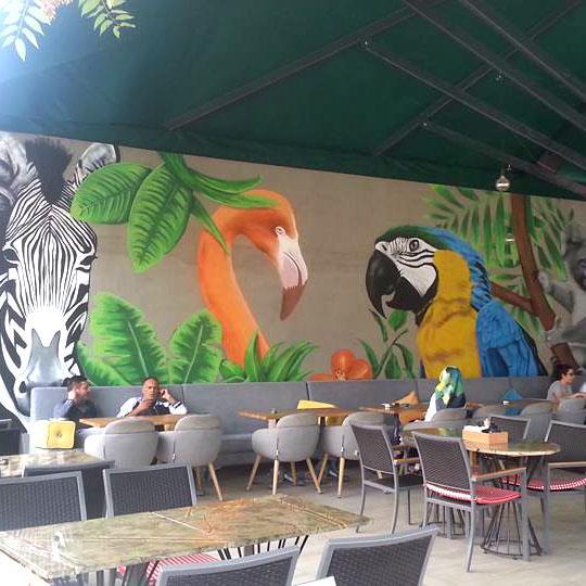 Restaurant - Cafeler İçin Duvar Resmi Boyama